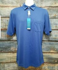 Pga Tour | Medium Mens Palace Blue Golf Polo Shirt Dry Short Sleeve Nwt