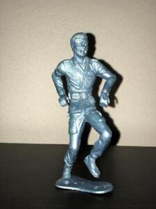 """Lot of 3 MPC Battling Buddies - Metallic Blue Plastic.  5"""" Tall"""