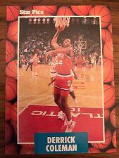 1990 Star Pics Derrick Colemand Syracuse University 43