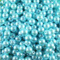 🎀 3 FOR 2 🎀 500 Round Blue Pearl Acrylic 3mm Spacer Beads For Jewellery Making