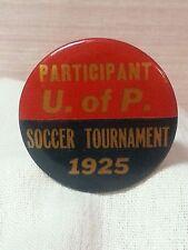 Vintage 1925 University of Pennsylvania Soccer Tournament pin