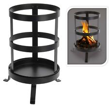 Small Steel Outdoor Fire Pit Basket Garden Patio Heater Summer Decoration 36 cm