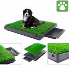 Pet Dog Puppy Toilet Mat Indoor Outdoor Training Grass Pad Loo Tray 63x50x7cm UK