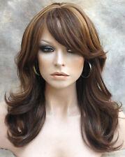 HUMAN HAIR BLEND Wig Heat Safe WavyBrown Auburn Blonde mix WBOH 4-27-30