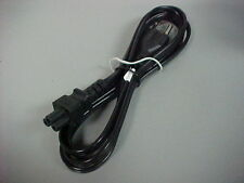 6' Notebook/ Laptop Black Power Cable Cord 3-Prong 'Mickey Mouse' Type, NEW