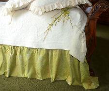 "Soft Surroundings Palme D'or  Jacquard 17"" Bedskirt King $210"
