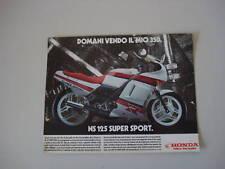 advertising Pubblicità 1986 HONDA NS 125 SUPER SPORT