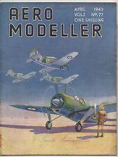 AERO MODELLER - APRIL 1942  ORIGINAL  MODEL AIRCRAFT MAGAZINE. VOL.7. NO 77.