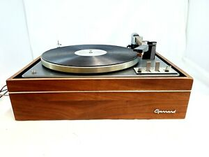 Garrard Lab 80 record player wood case turntable