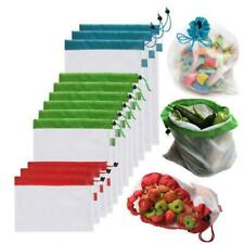 Pack Reusable Mesh Produce Bags Washable Vegetable Fruit Bags Storage Organizer