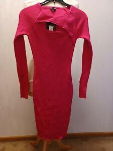 Fashion Nova Body Con Dress New w/ Tag Cutout Detail- SZ. Large fits like  Small