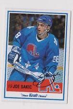 90/91 Kraft Joe Sakic Quebec Nordiques Autographed Card