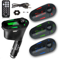 3.5mm AUX Multifunction FM Transmitter Car Kit MP3 Player With Charger for Phone