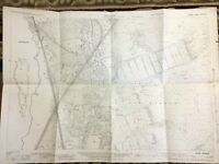 Antique Map of Surrey Hampshire Border Ash Common Normandy Original Copy 1931