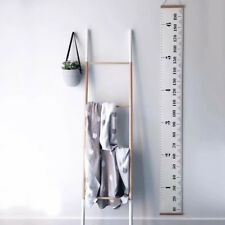 Wall Hanging Growth Chart Wood Frame Height Measurement Rulers For Kids #1
