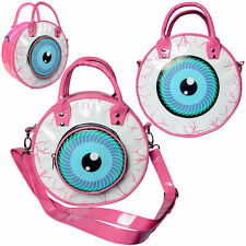 Kreepsville 666 Eyeball Bag Pink Psychobilly Horror