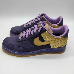 Nike Air Force 1 Low Supreme Jamaal Wilkes Purple Gold Size 11 315088-571 2007