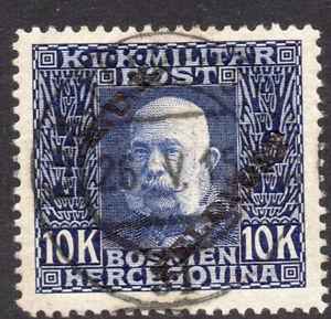 Austria 10 Kroner Military Stamp Fine Used 1915 Overprint Feld Post (1422)