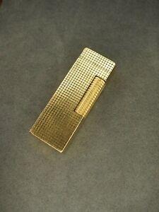 Dunhill Rollagas Feuerzeug Gold - Generalüberholt