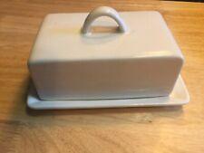 CARLTON WARE - Vintage Butter Dish/plate & cover; white. Rare.