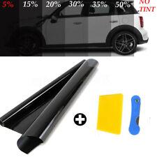 1x Car Window Tint Heat-insulating Film Tinting Dark Black 5% VLT 50*300CM New