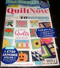 Quilt Now Magazine + Year of Quilts Block Designs Book 2018 Diary #43 UK 2017