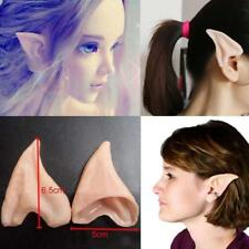 Latex Fairy Pixie Elf Ears Cosplay Halloween Party Pointed Prosthetic Tips Ear P