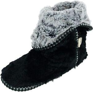Dearfoams Women's Beth Furry Foldover Boot Slipper
