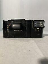 Olympus XA 35mm Rangefinder Film + Olympus A11 Flash **As Is**