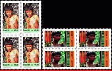 2312-13 BRAZIL 1991 YANOMAMI INDIAN CULTURE, COSTUMES, MI# 2411-12, BLOCKS MNH