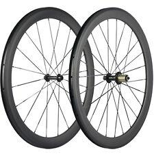 Flat Spokes Carbon Road Bicycle Wheels 50mm Clincher UD Matte Carbon Bike Wheel
