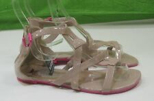 new  Summer Skintone/Pink Shoes sexy  Gladiator Sandals  women Size 10