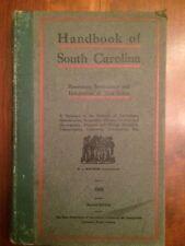 RARE 1908 Handbook of South Carolina, MAP, Agriculture, Geography Geology Mining