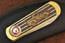 FRANKLIN MINT KNIFE IN ZIPPER POUCH COLLECTOR KNIFE 1940 FORD 1/2 TON TRUCK 9004