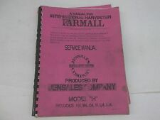 Jensales International Harvester Model H HV W4 O4 I4 U4 IU4 Service Manual