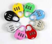 3 Digit Number Code Password Combination Padlock Security Safety Lock Reusable R