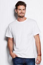 Camisetas de hombre de manga corta blanco talla S