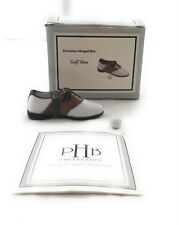 Golf Shoe By Phb Collection Porcelain Hinged Collectible Box