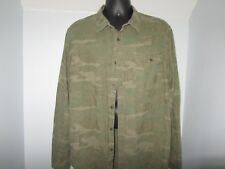 GH Bass Camouflage Shirt Mens XL Long Sleeve Green Camp Sport Fast Free Shipping