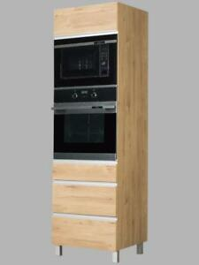 Hochschrank für Backofen / Mikrowelle Monia (KMOZPM) Holz: Dab Sonoma