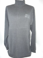 Harley Davidson Womens Turtleneck Pullover Sweatshirt Shirt Blouse L Large Gray