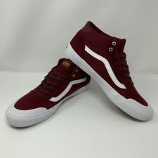 Vans Style 112 Mid Pro Burgundy White  Men's 13 Skate Shoes VN0A3DOVZ28