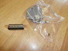 DB25 Male Solder D Sub Connectors & Grey Plastic Hood/Cover,NEW