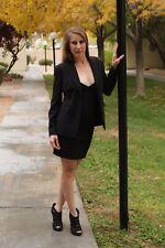 ELIE TAHARI Business Suit Black size 4P Petite