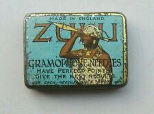 "RARE "" Zulu "" Gramophone / Phonograph Needle tin  -- with needles"