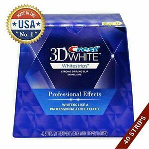 USA gemacht 1 Box 3D Whitestrips Weiss Professional (20 Beutel /40 Streifen)