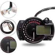 Motorcycle universal tachometer meter LCD Digital Gauge Speedometer Odometer