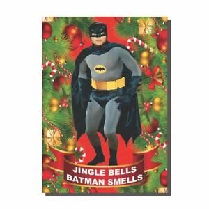 Vintage Style Jingle Bells Batman Smells Christmas Card