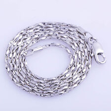 Chic Fashion womens White gold Filled Silver plated  chain 19'' long Necklace