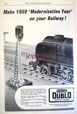 1959 Hornby-Dublo Electric Trains Advert ES6 Colour Light Signal #2 - Print AD